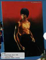 Bruce Lee painting, Oil on Canvas
