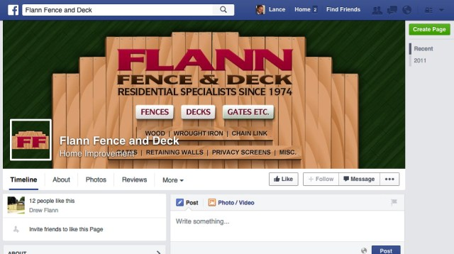 Flann Fence Facebook