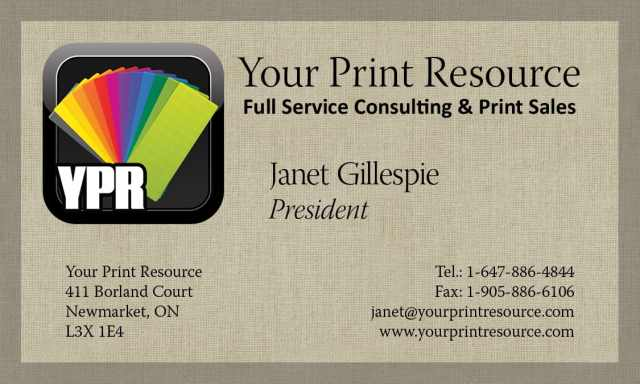 Your print resource lance daoust your print resource business cards reheart Image collections
