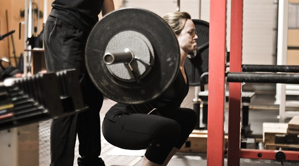 Emme Whiteman squat
