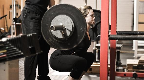 Emme Whiteman squat