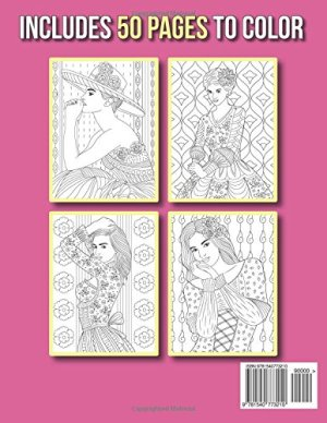 Beautiful Dresses: An Adult Coloring Book with Women's Fashion Design, Vintage Floral Dresses, and Easy Flower Patterns for Relaxation
