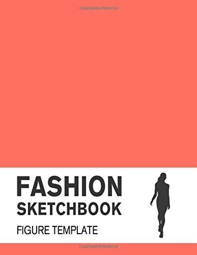 2019 Fashion Sketchbook with Female Figure Template Covered with Pantone Color of the Year 2019 – 16-1546 Living Coral