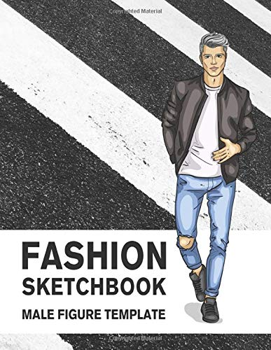 Fashion Sketchbook Male Figure Template 440 Large Croquis For Easily Sketching Your Fashion Design Styles Drawing Illustration And Building Your Design Portfolio Lance Publishing Studio