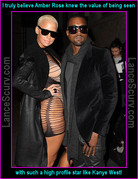 Amber Rose And Kanye West In Paris