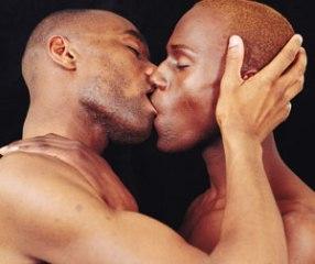 Gay Black Men Kissing