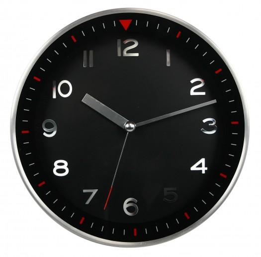 Black Metal Wall Clock