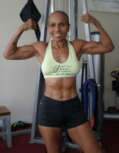 Ernestine Shepherd Double Biceps Shot
