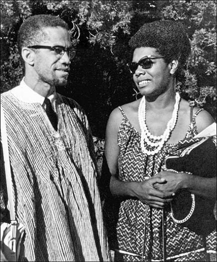 Maya Angelou & Malcolm X