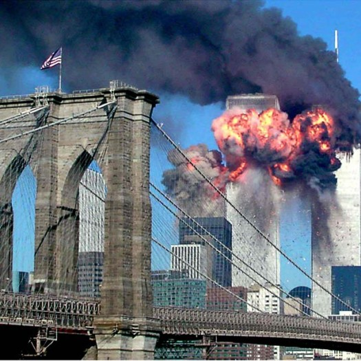 World Trade Center Attacks Brooklyn Bridge
