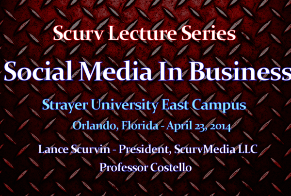 Approach To Social Media In Business (Part 1) – The LanceScurv Lecture Series