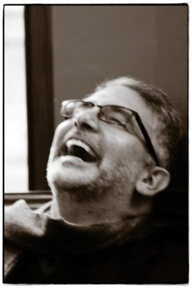Andrew laughing - Image copyright Lancia E. Smith - www.lanciaesmith.com