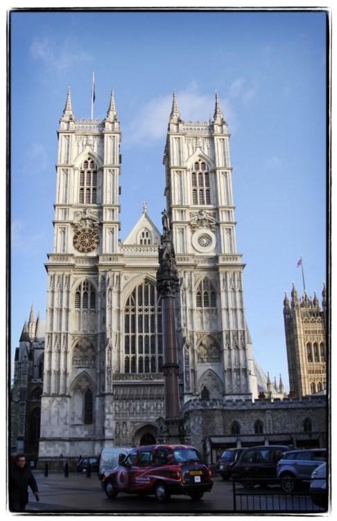 Westminster Abbey from street corner - Image (c) Lancia E. Smith - www.lanciaesmith.com