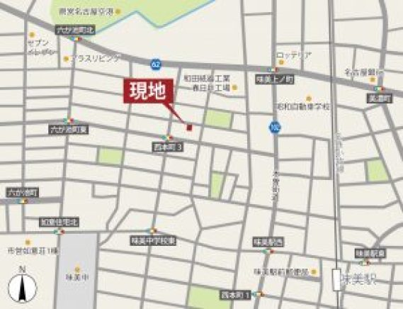 春日井・西本町の家 案内図