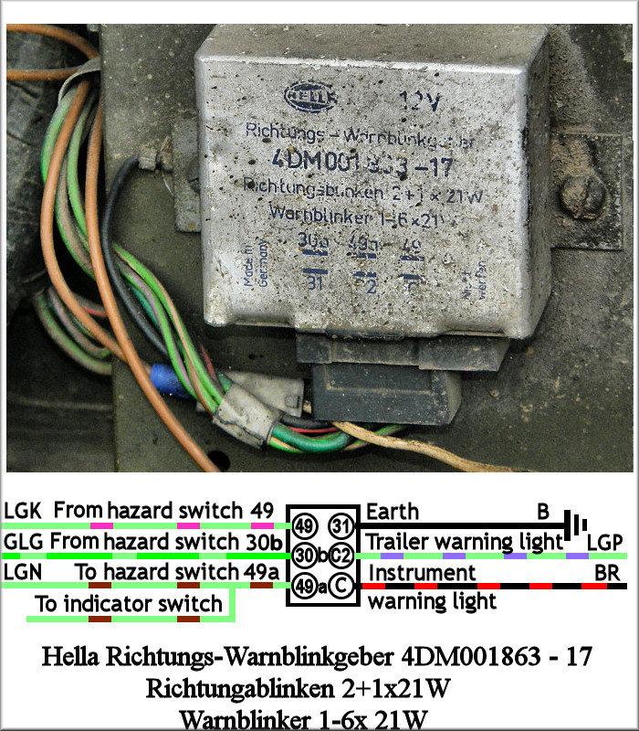hella relay wiring diagram 2 2001 dodge ram parts land rover lightweight hazard warning