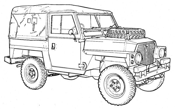 Range Rovers Free Colouring Pages