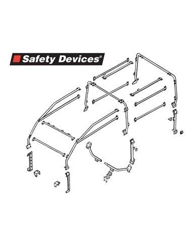Arceau Safety Devices 6 points exterieur pour Land Rover