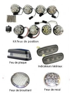 Kit LED complet finition blanche pour Land Rover Defender