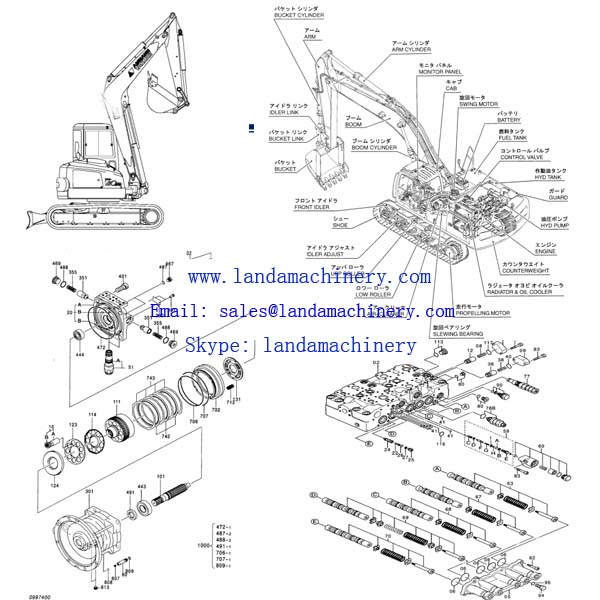 pilot control wiring diagram jcb