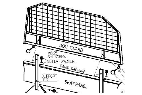 Separator spatiu bagaje Land Rover Defender RTC8095 Land