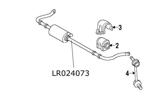 Bara stabilizatoare spate Range Rover Sport LR024073 Land
