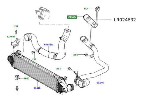 Furtun intercooler turbina 2200cc diesel LR Freelander 2