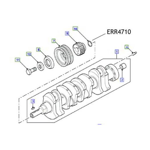 Oring vilbrochen Land Rover Defender Discovery ERR4710