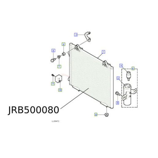 Condensator Aer Conditionat Freelander 2004- JRB500080