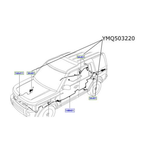 Cablaj senzori inaltare suspensie Discovery 3 Range Rover