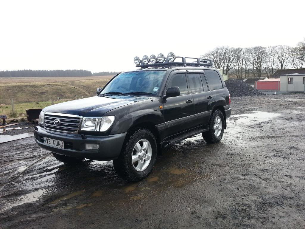 ARB roof rack with lamps