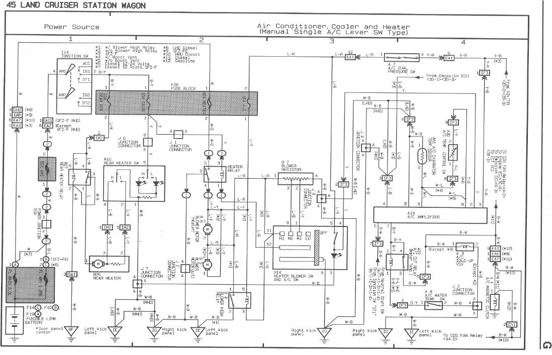 Wiring Diagram Toyota Landcruiser 80 Series : Series landcruiser headlight wiring diagram