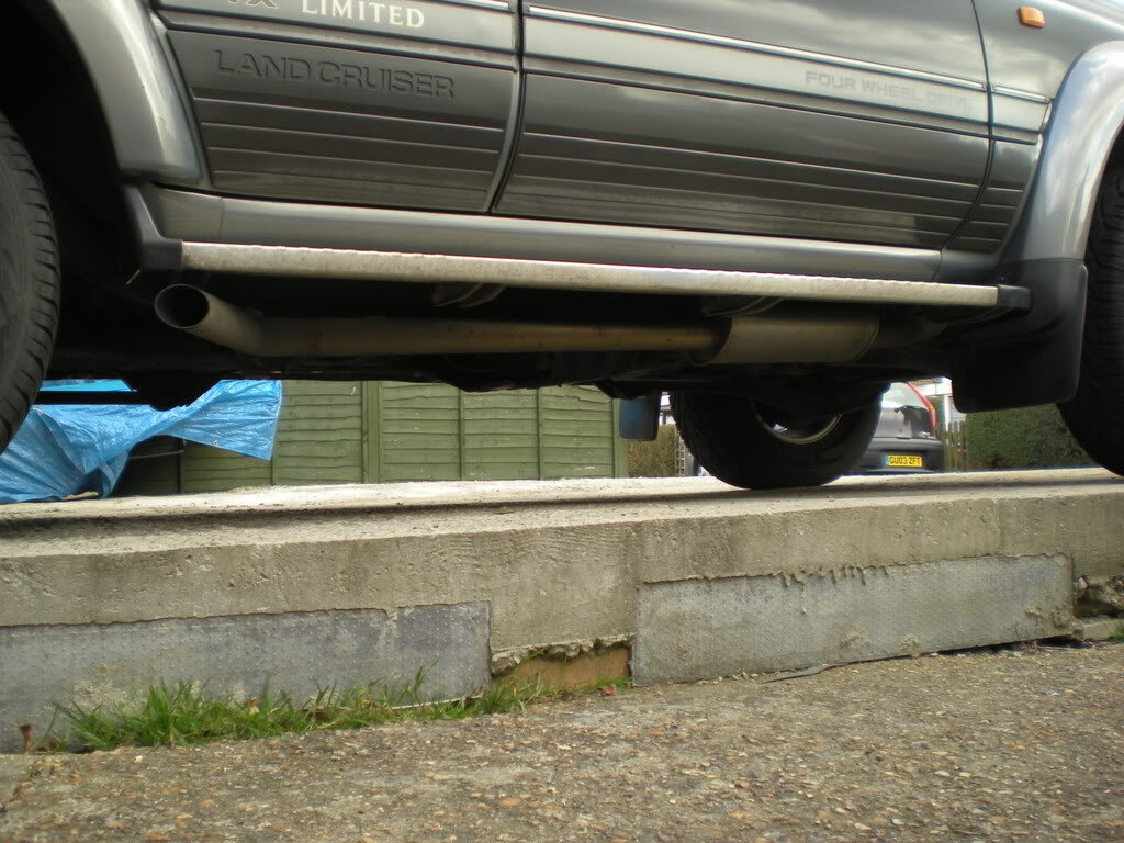 side exit exhaust on an 80 series
