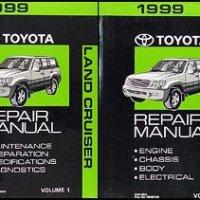 1999 Toyota Land Cruiser Repair Shop Manual Original Set