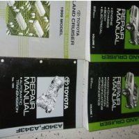 1999 Toyota LAND CRUISER Service Repair Shop Manual Set OEM FACTORY BOOKS HUGE (2 volume set, electrical wiring diagrams manual, and the automatic transaxle manual.)