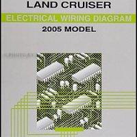 2005 Toyota Land Cruiser Wiring Diagram Manual Original