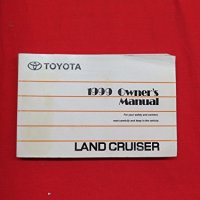 1999 Toyota Land Cruiser Owners Manual Guide Book