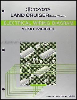 1993 Toyota Land Cruiser Wiring Diagram Manual Original ...