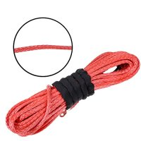"Astra Depot 1/4"" x 50' RED Synthetic Winch Rope Cable 6400+LBs For JEEP ATV UTV KFI Recovery SUV Truck"