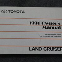 1991 Toyota Landcruiser Land Cruiser Owners Manual
