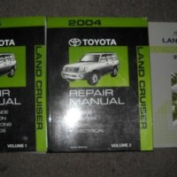 2004 Toyota Land Cruiser Service Repair Shop Manual Set (2 volume set, and the wiring diagrams manual)