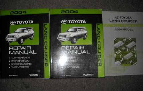 2004 Toyota Land Cruiser Service Repair Shop Manual Set  2
