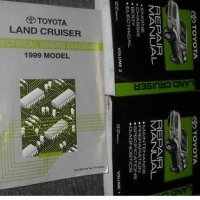 1999 Toyota Land Cruiser Service Shop Repair Manual Set (2 volume set, and the wiring diagrams manual)