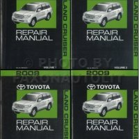 2009 Toyota Land Cruiser Repair Shop Manual Original 4 Vol Set