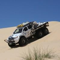 Arctic Trucks in the desert