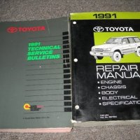 1991 Toyota Land Cruiser Service Shop Repair Manual Set (service manual, and the technical service bulletins manual.)
