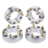 """HLZZ SLL-017 4pc 2"""" Black Toyota Wheel Spacers Adapters 5 Lug 5x150 for 2007-2016 Tundra with 14x1.5 Studs (Silver)"""