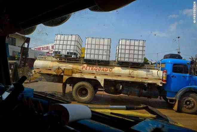 Fuel truck to supply mines in the Amazon