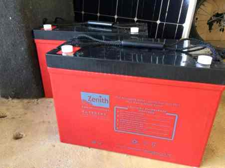 The uberstrong Zenith AGM batteries provided by AK Maritime Service.