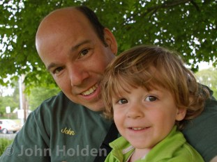 John W. Holden and son Mathew, creator of landscape designs Newtown CT