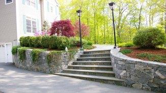 Bluestone Steps Foundation Planting